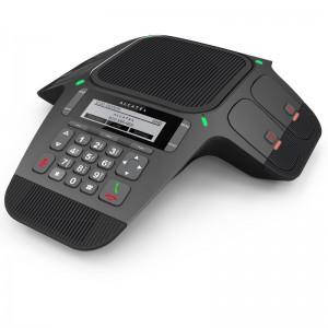 Das Alcatel Conference IP1850 ist die SIP-Version des Conference 1800. Es kann sehr einfach hinter die meisten IP-Telefonanlagen der VoIP-Anbieter geschaltet werden.