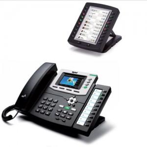Tiptel 3030 IP Telefon und KM 30-40 Tastenerweiterungsfeld