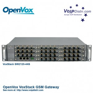 OpenVox VoxStack GW2120-44G Hybrid VoIP Multi-Port-GSM Gateway with 44 GSM Channels